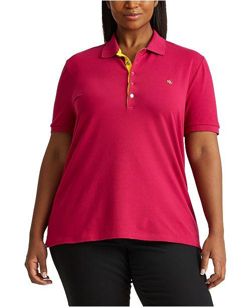 Lauren Ralph Lauren Plus-Size Piqué Polo Shirt
