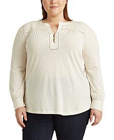 Lauren Ralph Lauren Plus-Size Cotton Jersey Top
