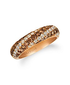 Chocolate Diamonds® (1/15 ct. t. w.) Ring in 14k Rose Gold