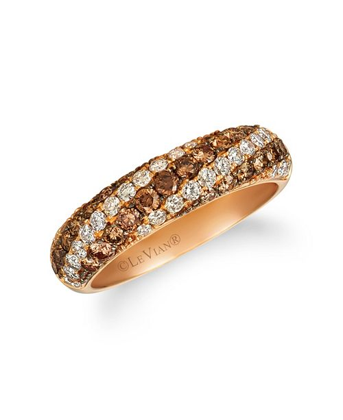 Le Vian Chocolate Diamonds® (1/15 ct. t. w.) Ring in 14k Rose Gold