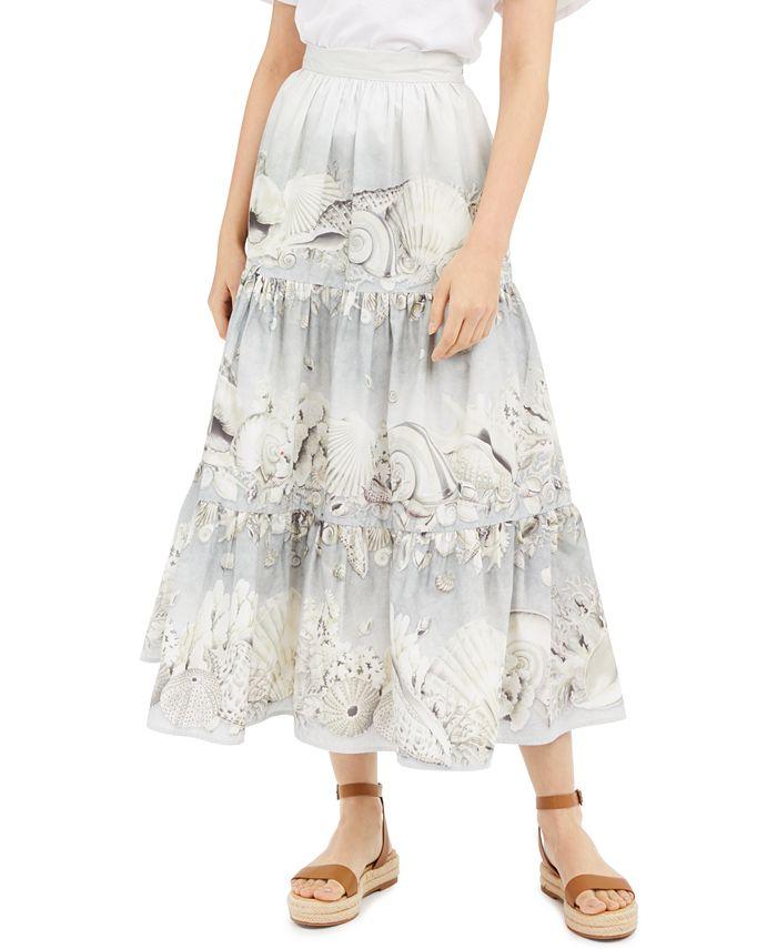 Weekend Max Mara - Tiered Seashell-Print Skirt