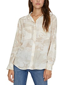 Waverly Camo-Print Boyfriend Shirt