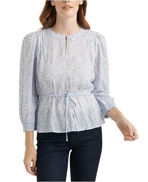 Lucky Brand Abby Peplum Top