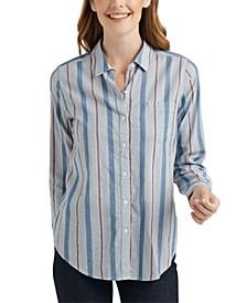 Classic 1-Pocket Striped Shirt