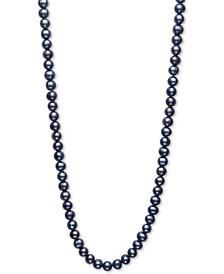 "Dyed Black Cultured Freshwater Pearl (7mm) 34"" Strand Necklace"