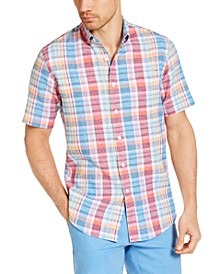 Men's Calder Check Short Sleeve Shirt, Created for Macy's