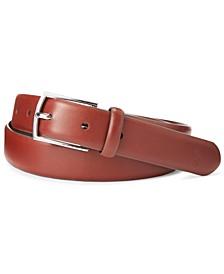 Men's Polo-Plaque Calfskin Belt