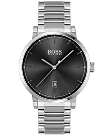 Men's Confidence Stainless Steel Bracelet Watch 42mm