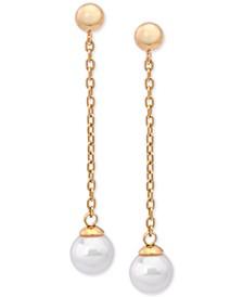Imitation Pearl Drop Earrings
