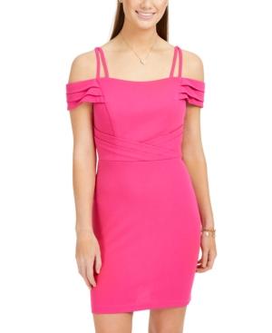 Teeze Me Juniors' Off-The-Shoulder Dress