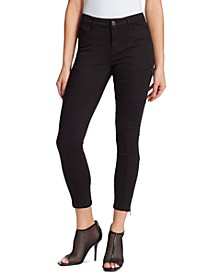 Todd Mid-Rise Zipper-Trim Skinny Ankle Jeans