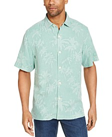 Men's Tropical Print Silk Short Sleeve Camp Shirt, Created for Macy's