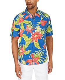 Men's Mahala Blooms IslandZone® Classic-Fit Tropical Print Camp Shirt