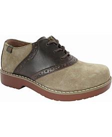 Women Varsity Saddle Oxford Shoe with Smooth Saddle