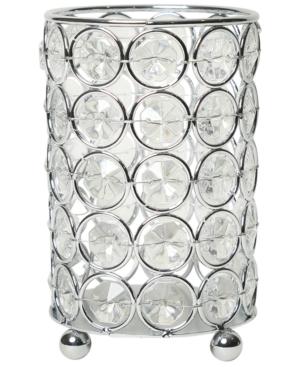 Elegant Designs Elipse Crystal Decorative Flower Vase, Candle Holder, Wedding Centerpiece