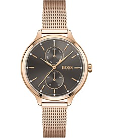 Women's Chronograph Purity Carnation Gold-Tone Stainless Steel Mesh Bracelet Watch 36mm