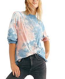 Free People Be Free Tie-Dyed Long-Sleeve T-Shirt