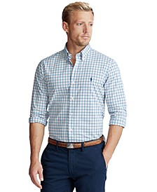 Men's Classic-Fit Plaid Poplin Shirt