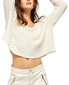 Free People Seashell Cotton Sweater