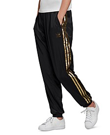 Women's Metallic-Accent Track Pants