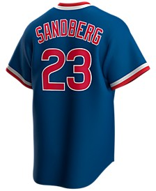 Men's Ryne Sandberg Chicago Cubs Coop Player Replica Jersey