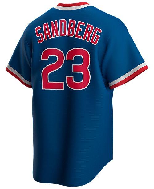Nike Men's Ryne Sandberg Chicago Cubs Coop Player Replica Jersey