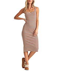 Juniors' Night Magic Striped Midi Dress