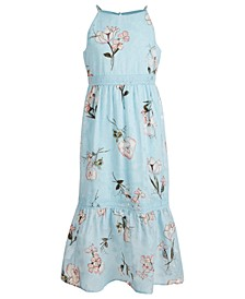 Big Girls Floral-Print Burnout Maxi Dress