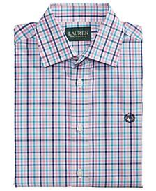 Big Boys Classic-Fit Pink/Blue Multi-Plaid Dress Shirt
