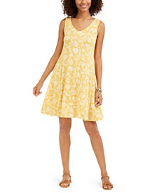 Printed Sleeveless Swing Dress, Created for Macy's