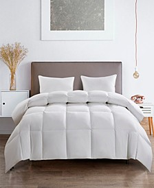 Light Warm White Goose Feather Down Fiber Comforter Twin