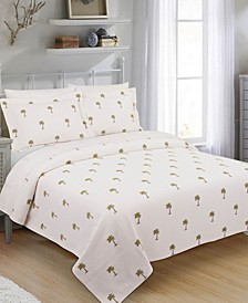 The Palm King Coverlet