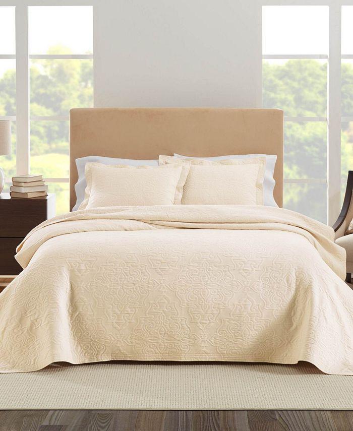 Nouvelle Home - Raphaela European Matalasse Coverlet Set Twin White