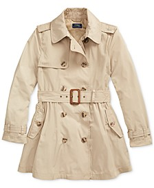 Big Girls Water-Repellent Trench Coat