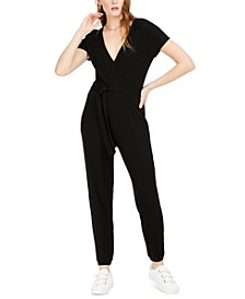 Ribbed Tie-Waist Jumpsuit, Created for Macy's