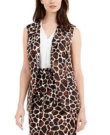 Giraffe-Print Sleeveless Vest