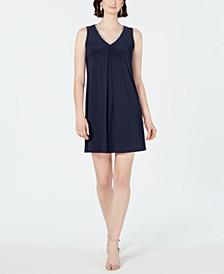 Petite V-Neck Slit-Back Dress