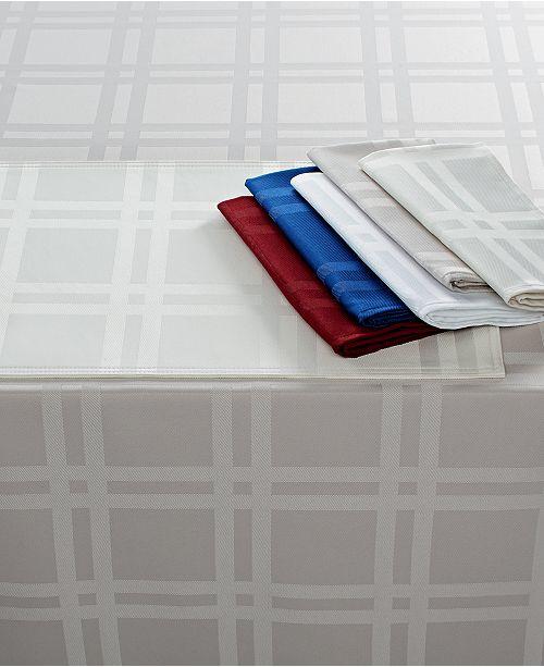 "Martha Stewart Collection Martha Stewart Table Linens, Skylight Plaid 70"" Round"