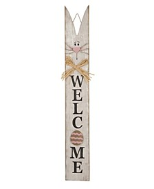 Wooden Easter Welcome Porch Sign with Bunny Ears