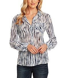 Ikat Rivers Printed Button-Front Shirt