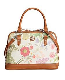 Botanical Linen Dome Satchel, Created for Macy's