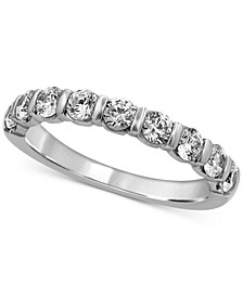 Diamond Bar Band (1 ct. t.w.) in 14k White Gold