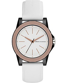 Women's Lady Banks White Silicone Strap Watch 40mm