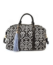 Printed Weekender with Removable/Adjustable Long Strap