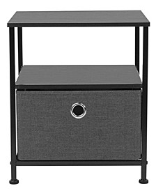 Nightstand 1-Drawer Shelf Storage