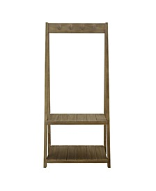 Essex Folding Coat Rack with 2 Shelves
