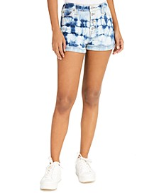 Junior's Tie-Dye Cuffed Shorts