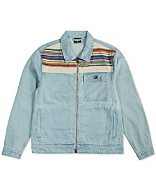 Men's Earth Lessons Rainbow Patch Denim Jacket