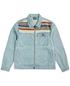 Men's Earth Lessons Rainbow Patch Denim Jacket