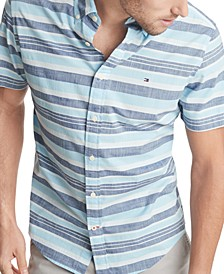 Men's Big & Tall Nash Stripe Woven Short Sleeve Shirt